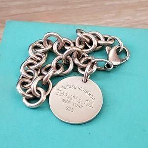 Tiffany Round Tag Charm Bracelet